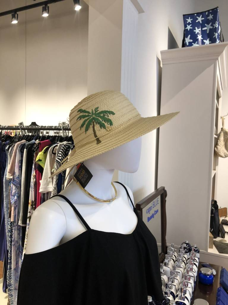Dorfman Pacific Embroidered Panama Hat