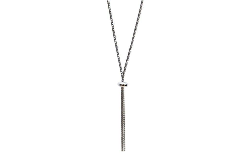 Silver Slide Necklace