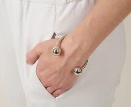 Silver Barbell Cuff