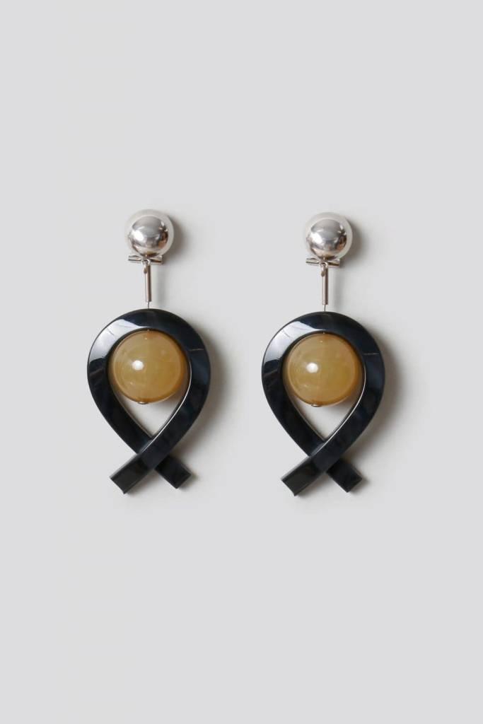 Rachel Comey Rachel Comey Loma Earrings: Black/Camel