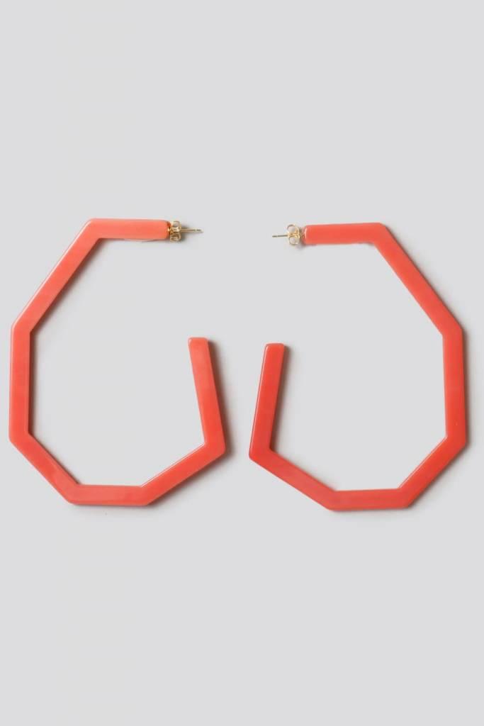 Rachel Comey Rachel Comey Emory Earrings: Hot Pink