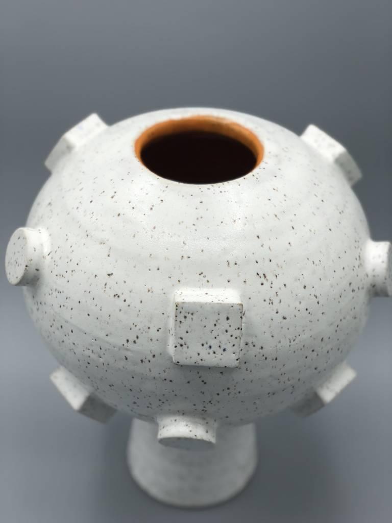 Natan Moss Ceramics Artificial Intelligence Vase:  Orange Orb