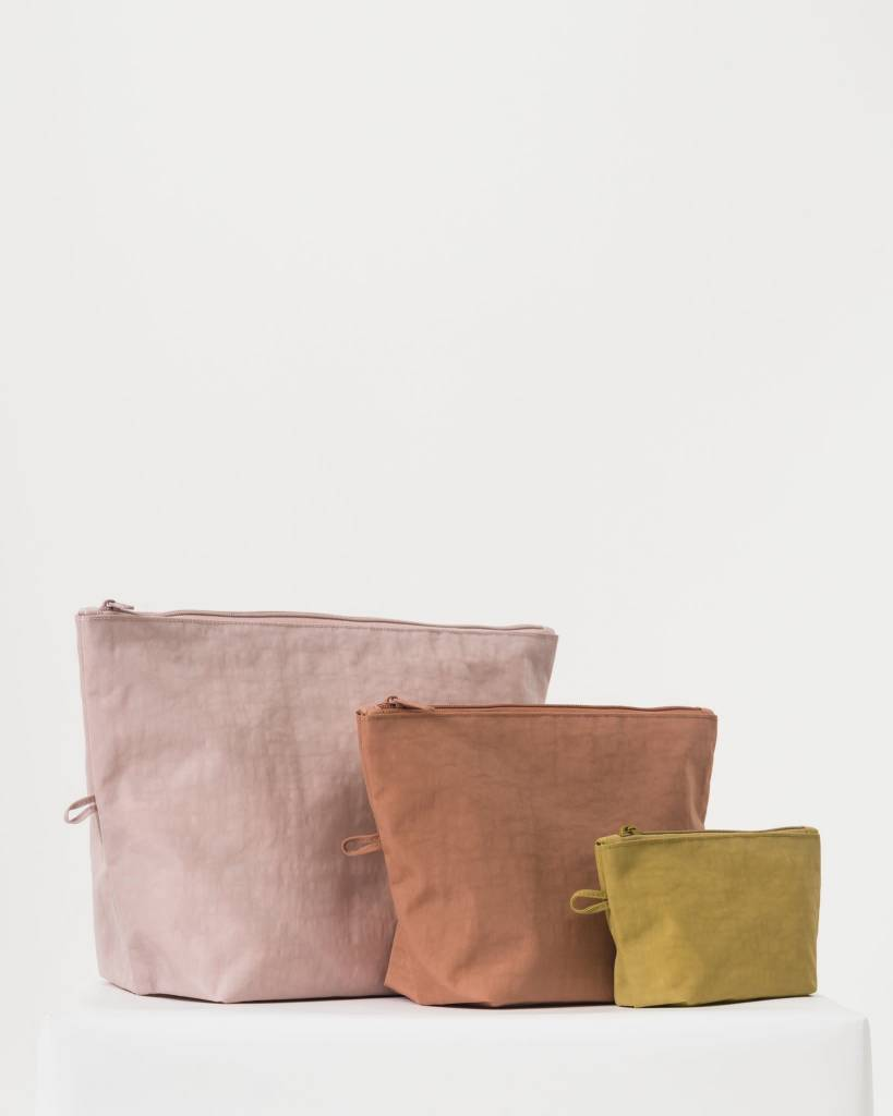 Baggu Nylon Pouch Set in Sunset