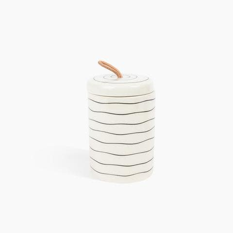 Ceramic Stash Jar: Lines