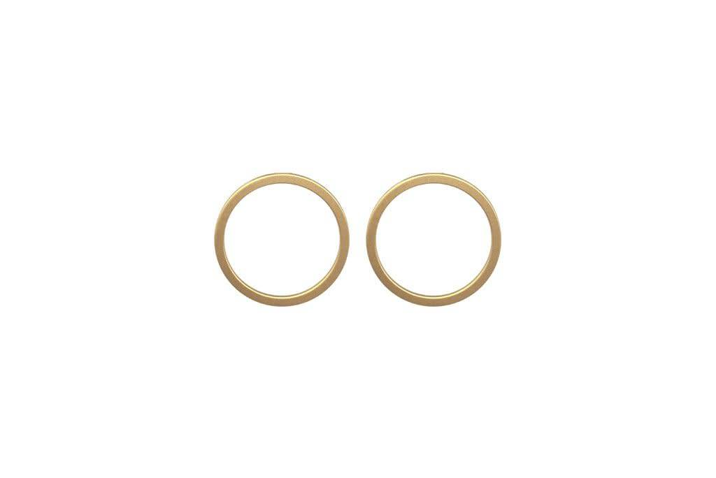 Perfect Circle Earrings: Matte Gold