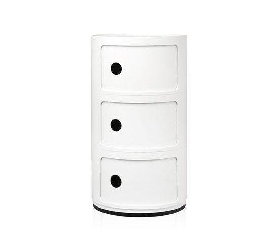 Kartell Kartell Componibili 3 Drawer Tower in White