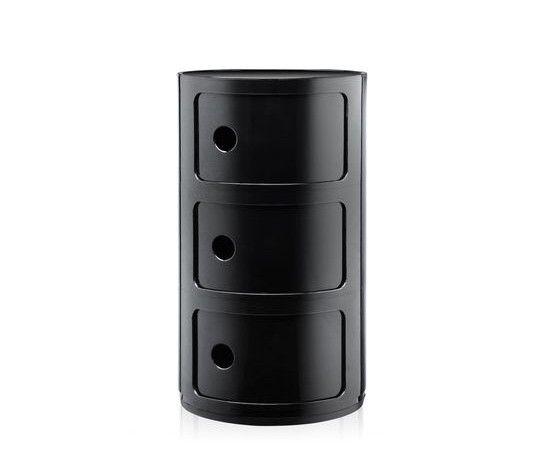 Kartell KARTELL COMPONIBILI 3 DRAWER TOWER IN black