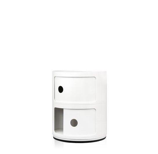 Kartell Kartell Componibili 2 Drawer Tower in White