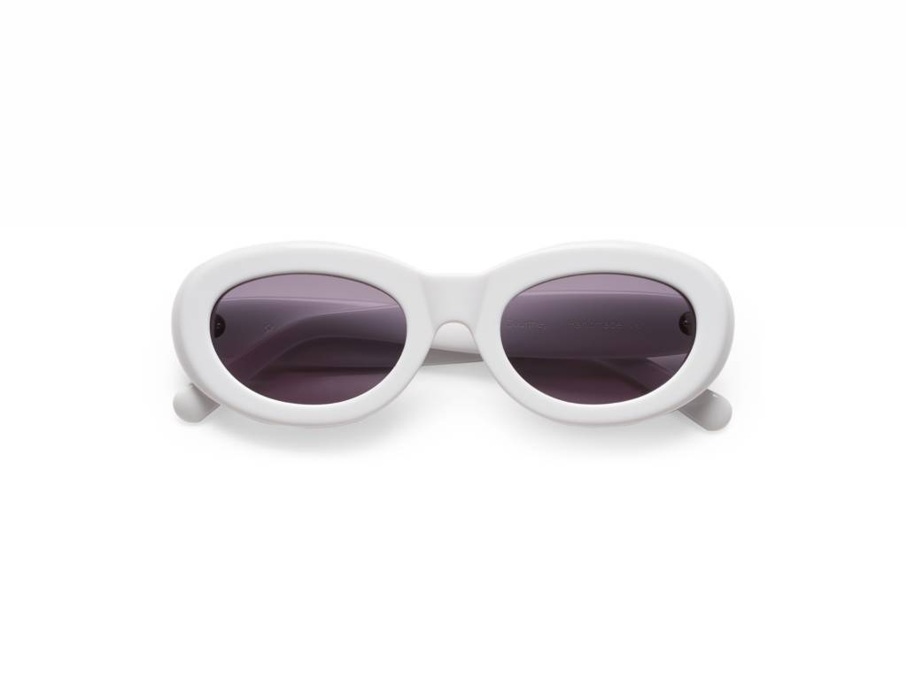 Sun Buddies Courtney Sunglasses in Solid White