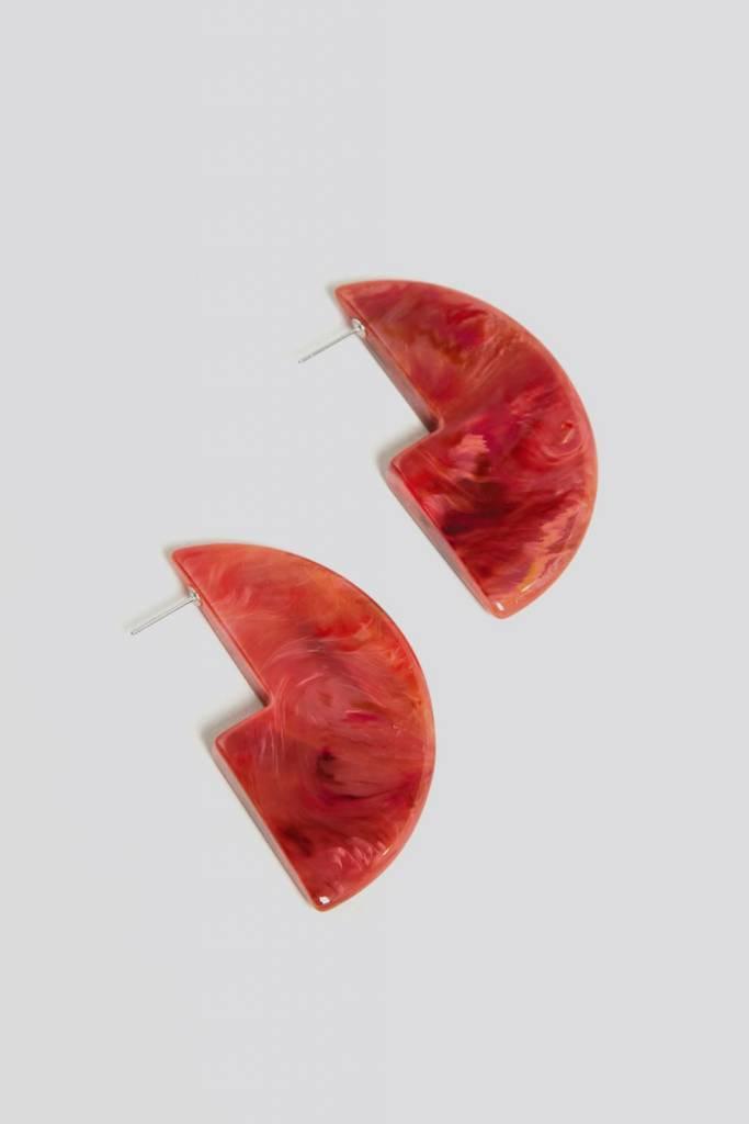 Rachel Comey Rachel Comey Kip Earrings in Red Marble