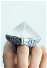 Quartz Pyramid Ring