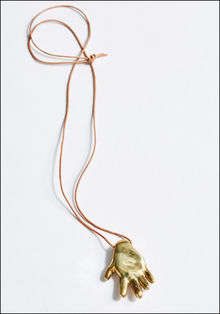 Helen Levi Gilded Hand Necklace