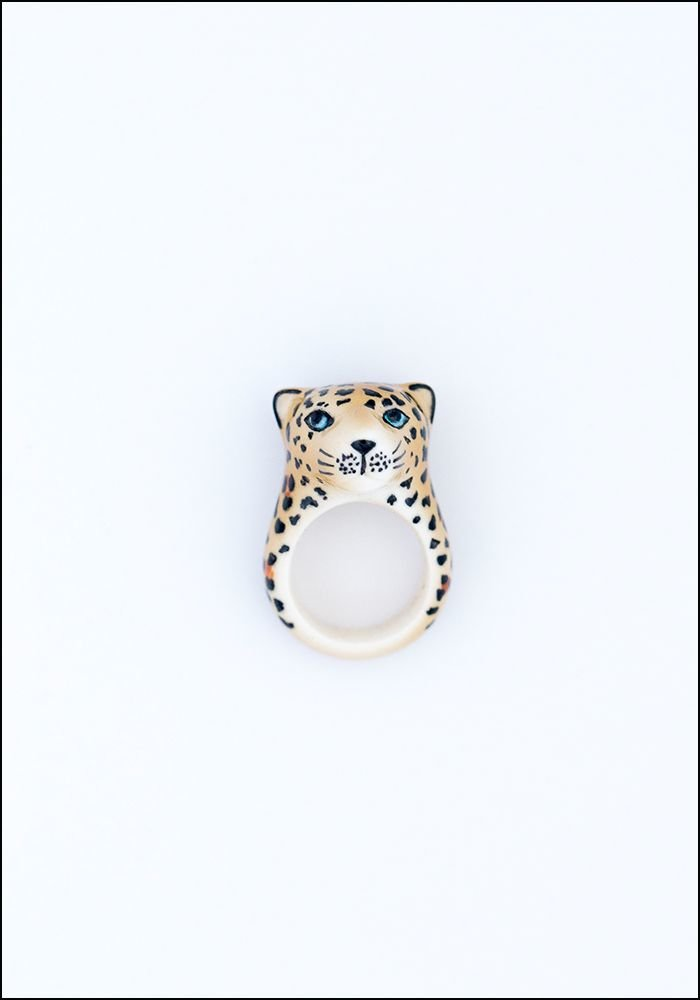 Leopard Porcelain Ring
