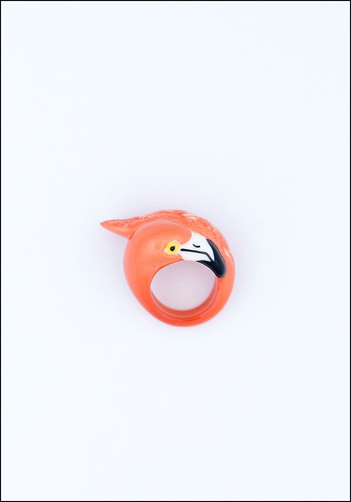 Flamingo Porcelain Ring