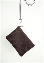 Cowhide Zip Clutch