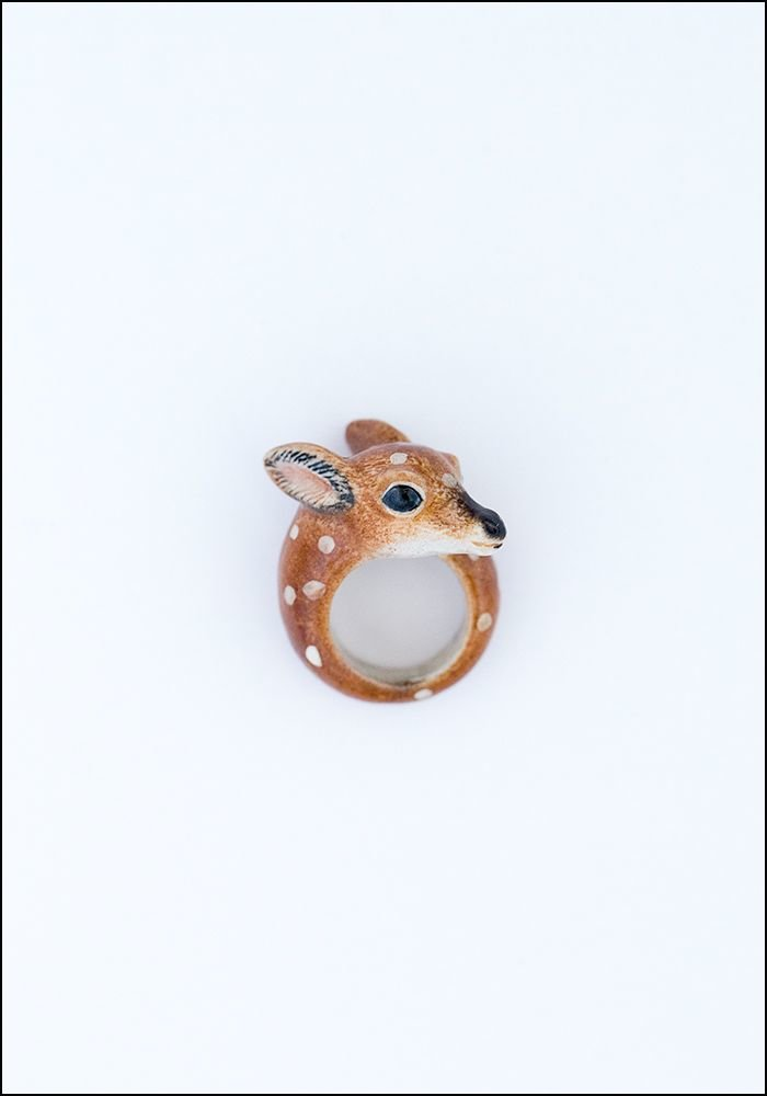Nach Bijoux Porcelain Doe Ring