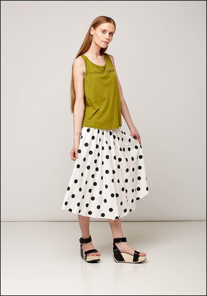 Polka Dot Swing Skirt 536