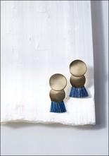 Anna Monet Two Brass Disc Horsehair Earrings