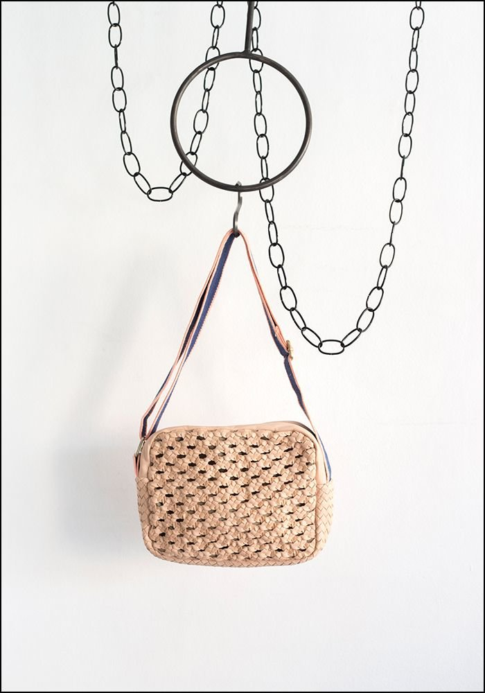 Woven Leather Zavata Bag