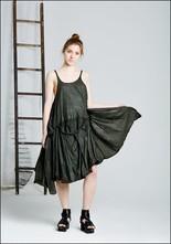 Crinkle Swing Dress