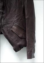 Tuxedo Cut Leather Jacket