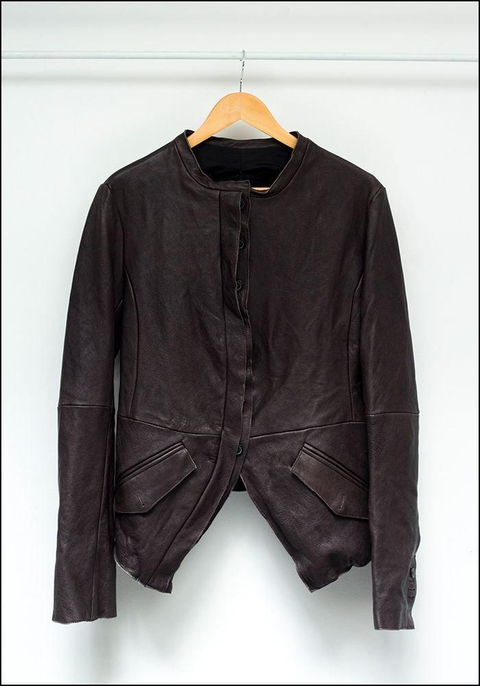 Tuxedo Cut Leather Jacket 2341106