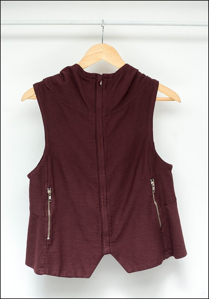 Hooded Zip Vest 308