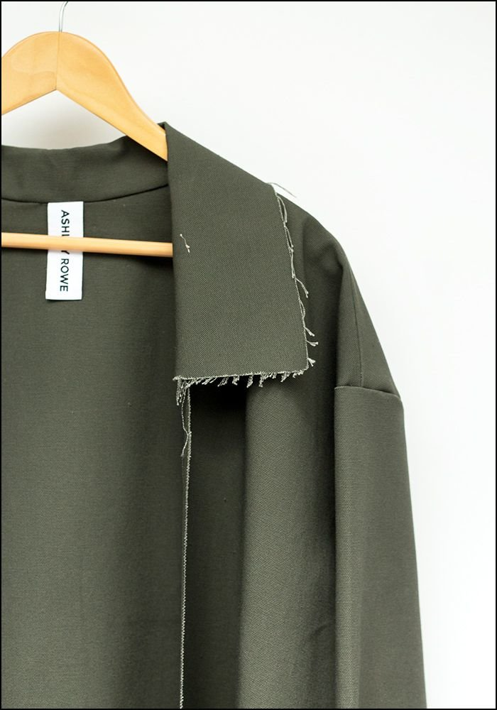 Ashley Rowe Raw Edge Coat