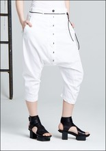 Leather Tie Drop Pants