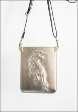 Embossed Leather Crossbody Pouch
