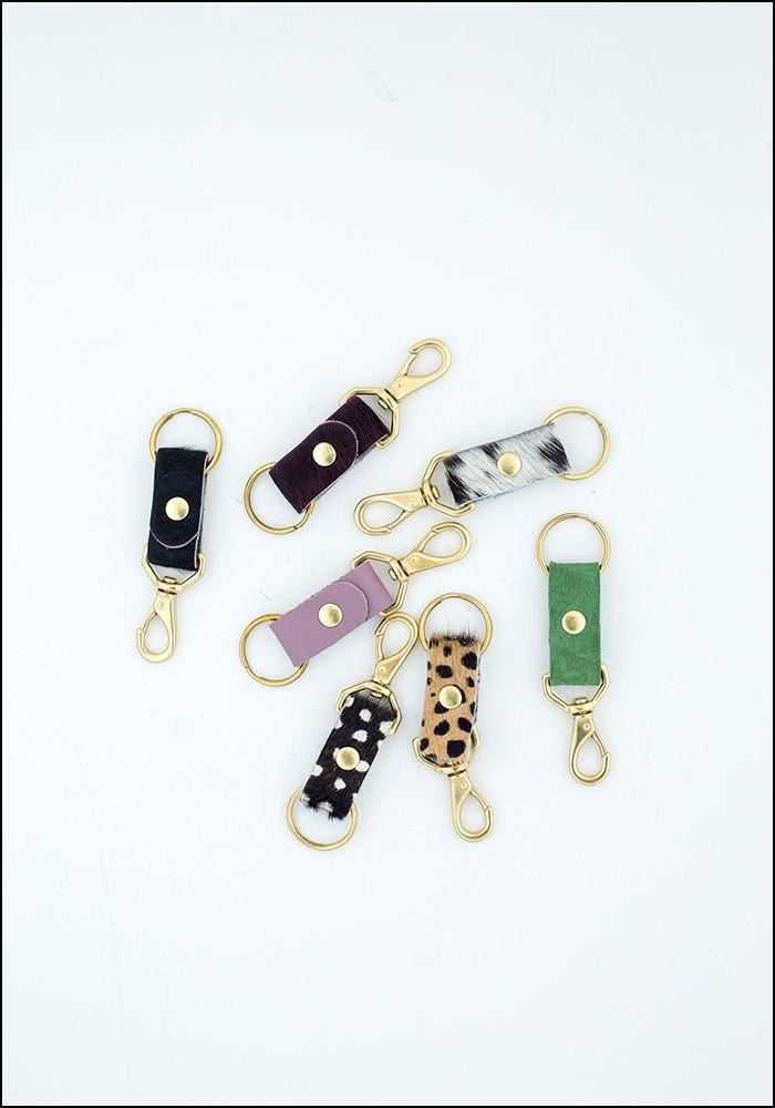 Cowhide Keychain