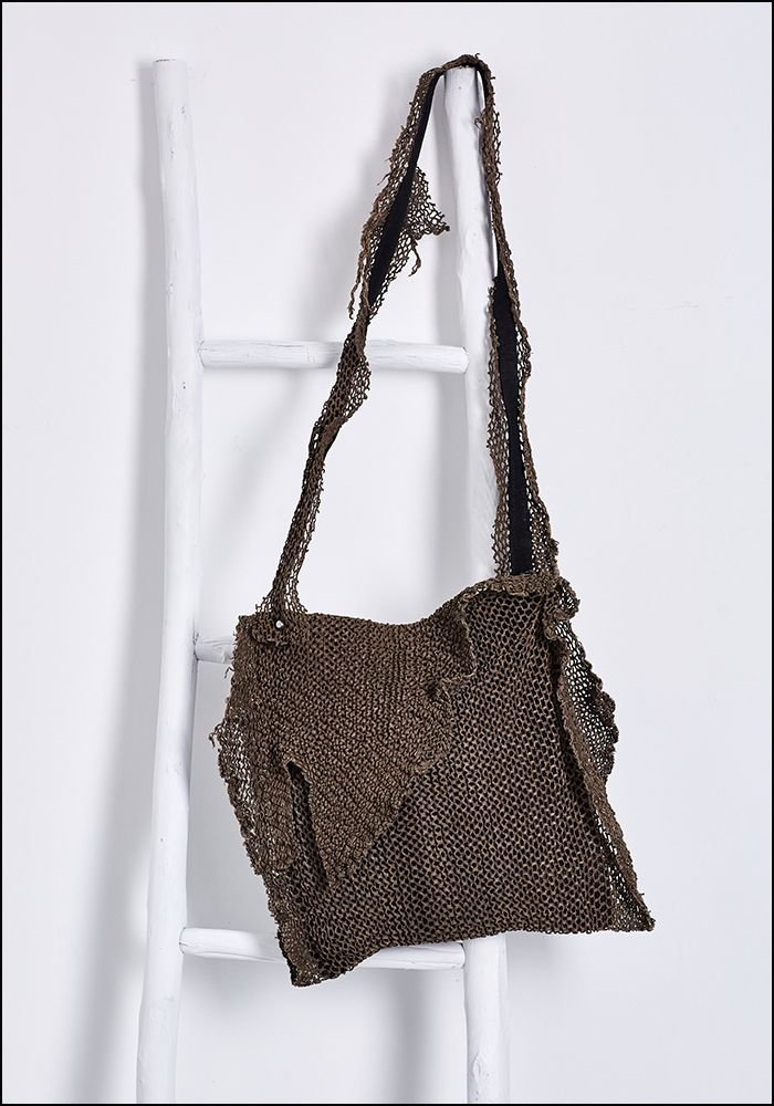 Laser Cut Leather Slouch Bag