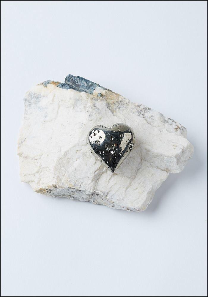 Tesoro Pyrite Heart