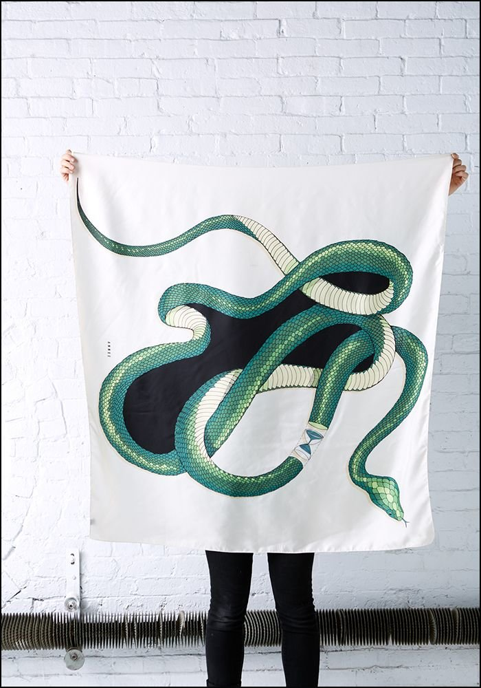 Serpent Silk Scarf
