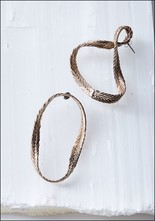Stvdio Brooklyn Braided Asymmetric Hoops