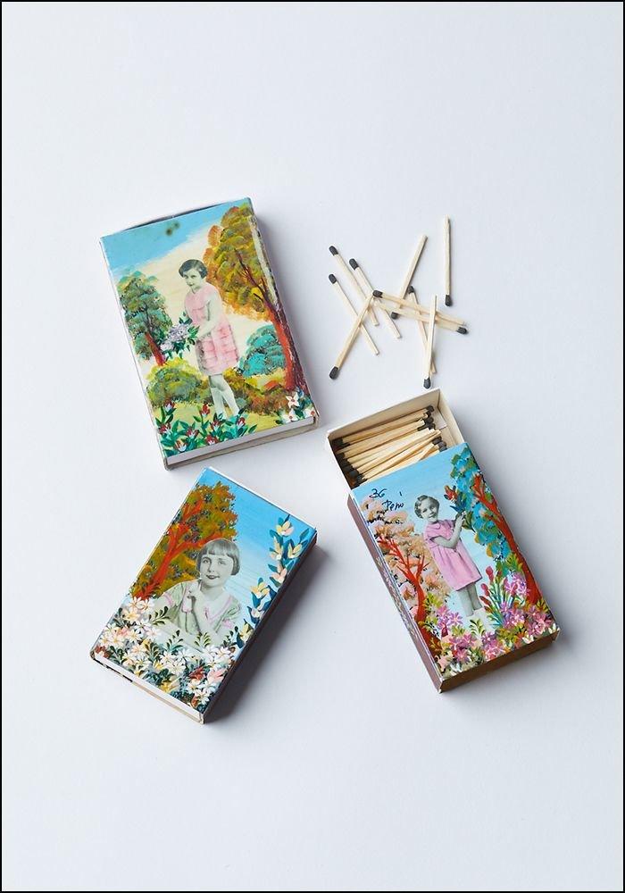 Tesoro Handpainted Match Box and Matches