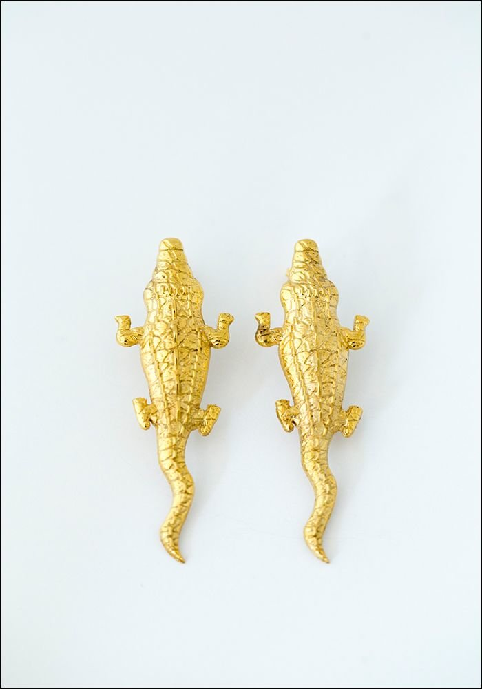 Lako Bukia Crocodile Earrings