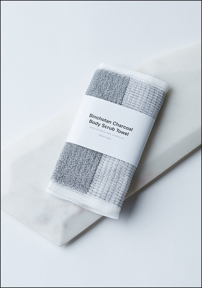 Binochotan Charcoal Body Scrub Towel