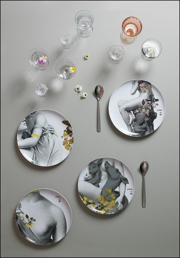 Yuan Parnasse Plate Set of 4