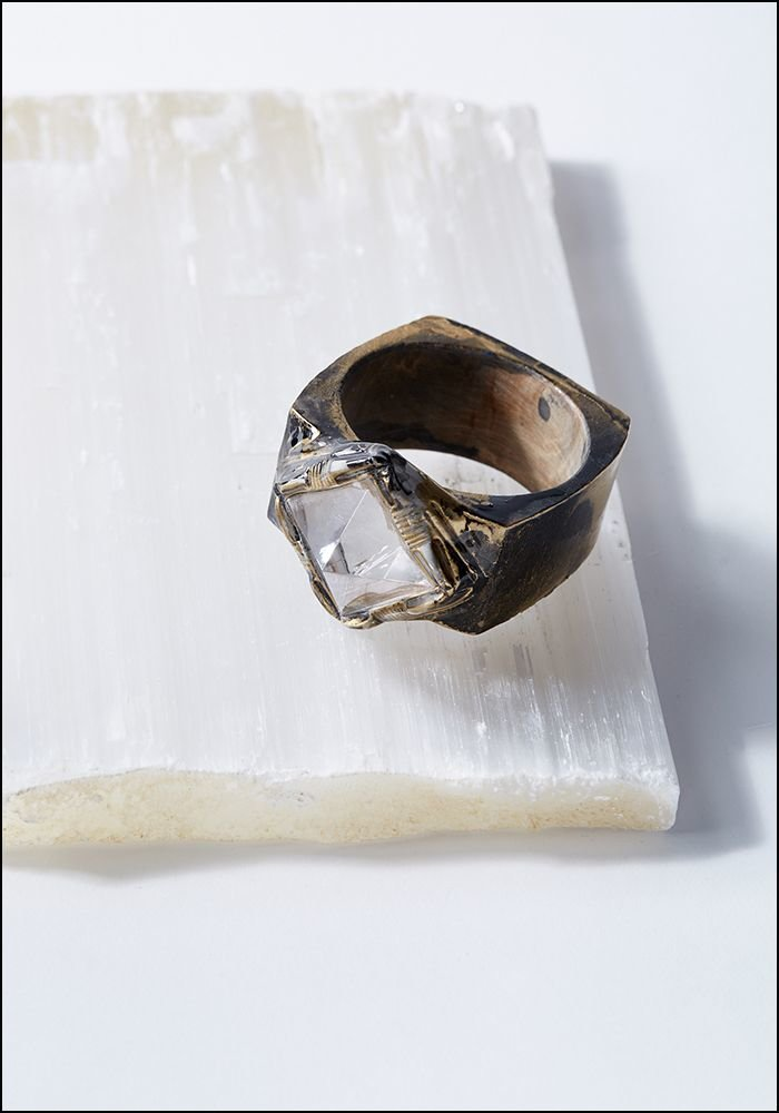 Adina Mills Quartz Pyramid Chunky Bangle