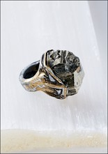 Pyrite Chunk Ring