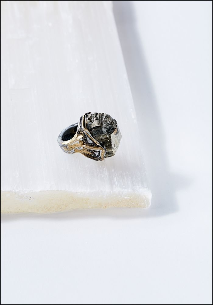 Pyrite Chunk Ring