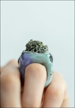 Adina Mills Pyrite Sparkle Ring