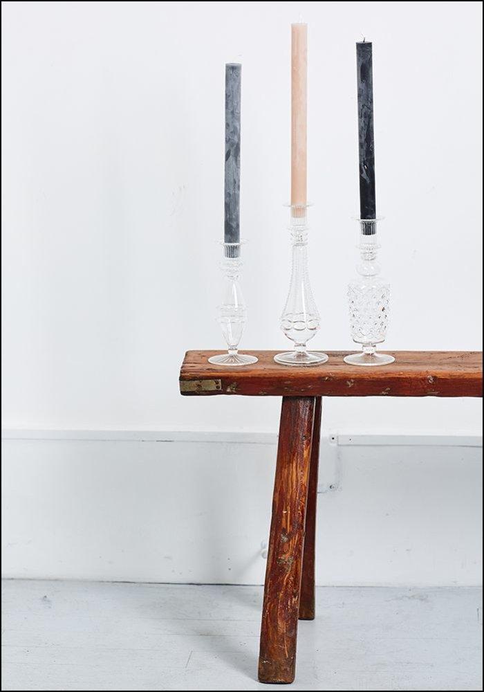 Textured Glass Candlestick