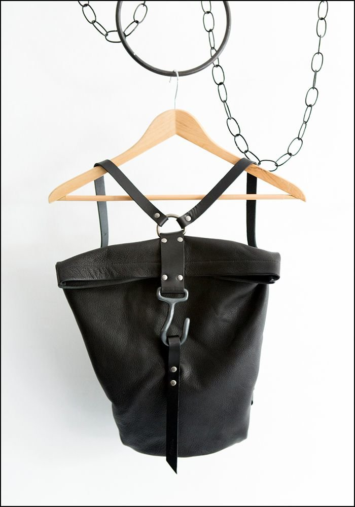 Leather Hook Backpack