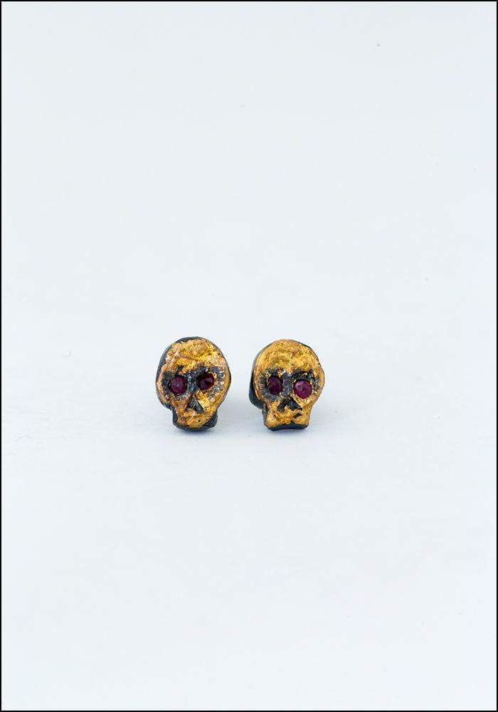 Acanthus Skull Earring