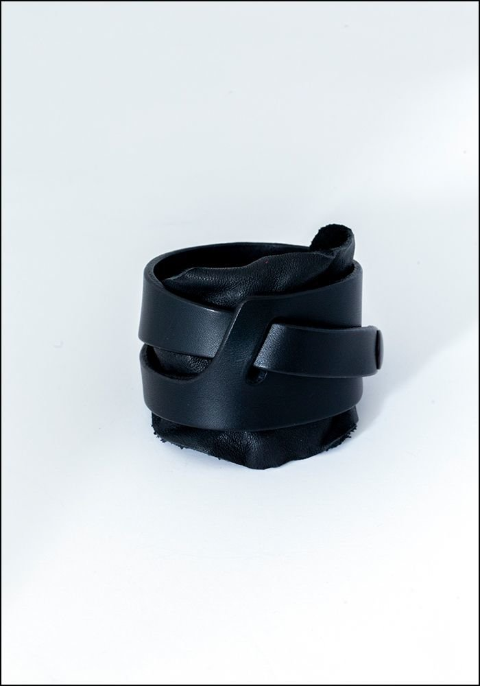 Teo+Ng Leather Wrap Cuff