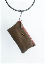 Motif Leather Pouch
