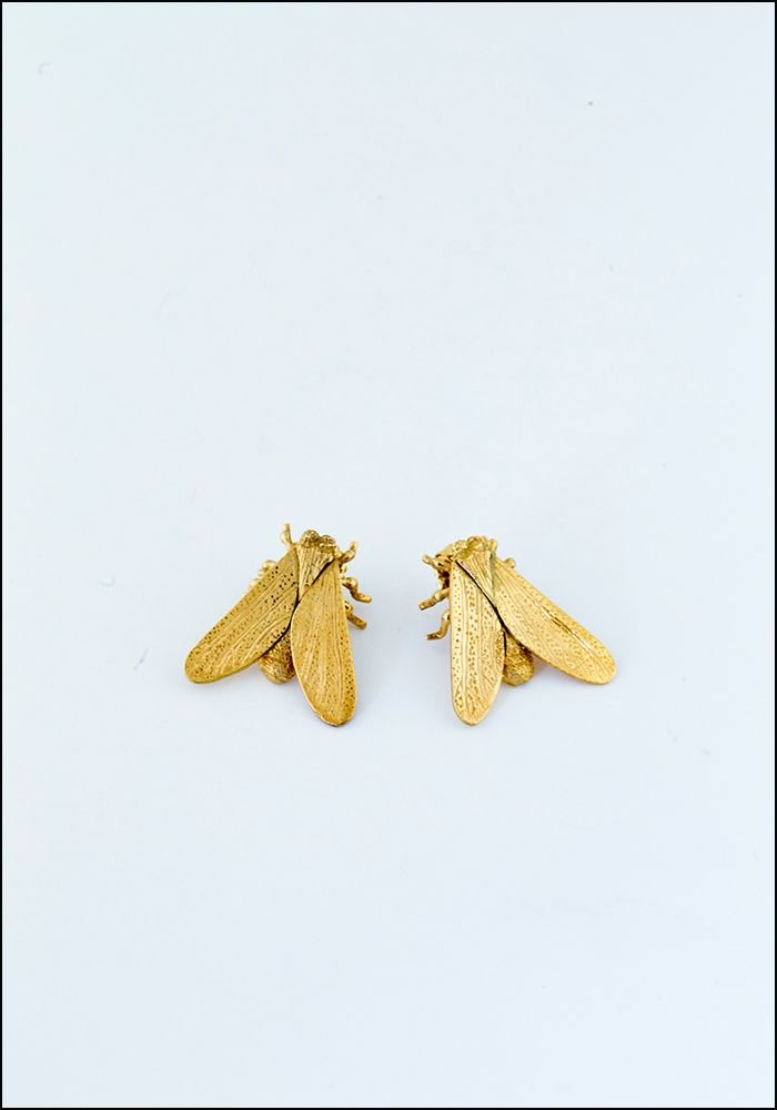 Gold Fly Studs