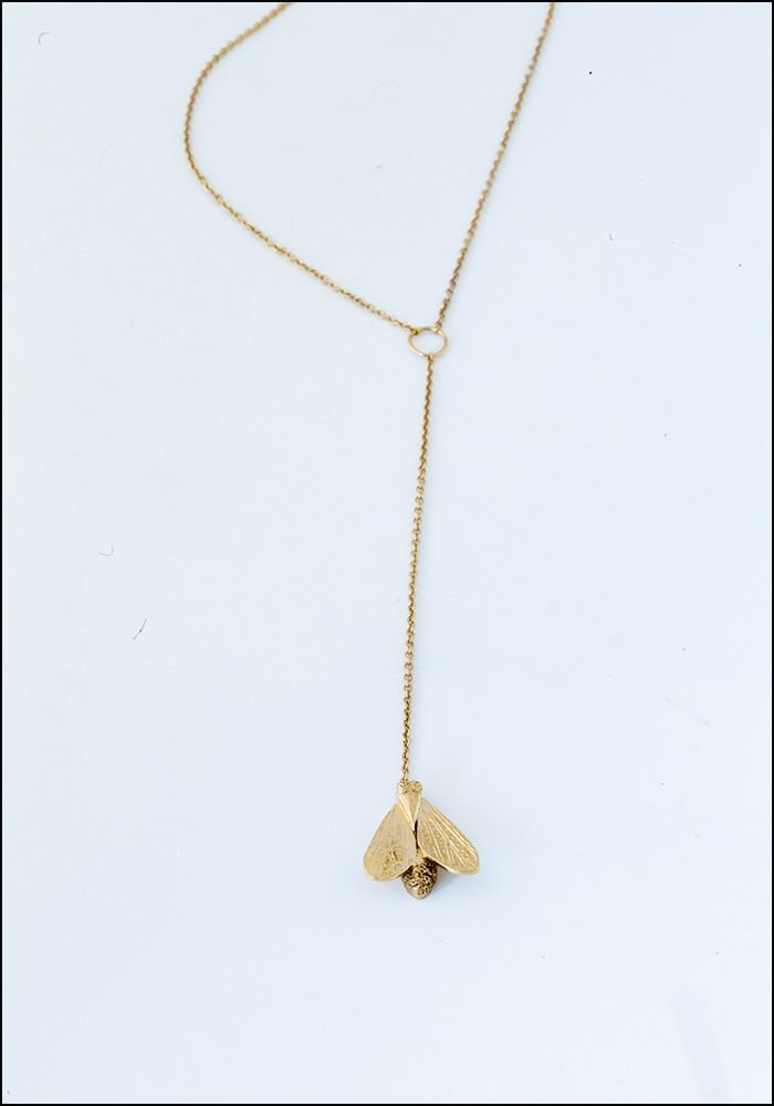 Avocet Moth Pendulum Necklace